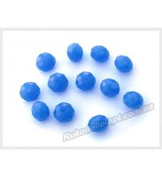 Хрустальные бусины рондель 6 мм цвет королевски синий матовый