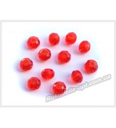 Хрустальные бусины рондель 6 мм цвет красный