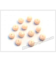 Хрустальные бусины рондель 6 мм цвет кремово-белый матовый