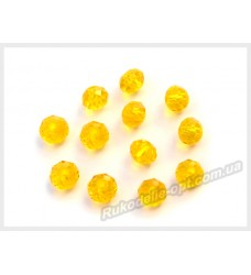 Хрустальные бусины рондель 6 мм цвет лимонный