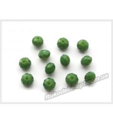 Хрустальные бусины рондель 6 мм цвет оливковый матовые