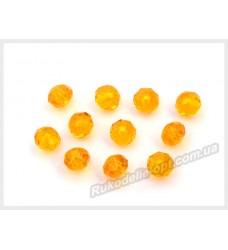 Бусины хрустальные (мод. 165) рондель 6 мм оранжевые № 30