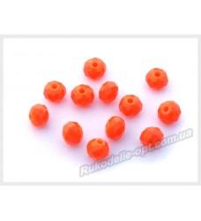 Бусины хрустальные (мод. 165) рондель 6 мм оранжевые матовые № 33