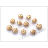 Бусины хрустальные (мод. 165) рондель 6 мм песочно-желтые матовые AB № 132