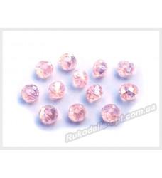 Хрустальные бусины рондель 6 мм цвет розовый AB