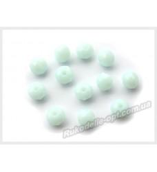 Бусины хрустальные (мод. 165) рондель 6 мм светло-бирюзовые матовые № 47