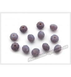 Хрустальные бусины рондель 6 мм цвет светло-фиолетовый матовый