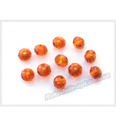 Бусины хрустальные (мод. 165) рондель 6 мм светло-коричневые № 11