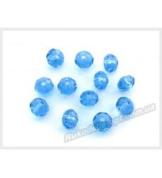 Хрустальные бусины рондель 6 мм цвет светло-синий