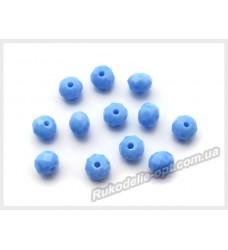 Хрустальные бусины рондель 6 мм цвет светло-синий матовый