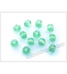 Хрустальные бусины рондель 6 мм цвет светло-зеленый
