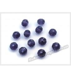 Хрустальные бусины рондель 6 мм цвет темно-фиолетовый