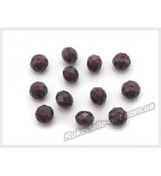 Хрустальные бусины рондель 6 мм цвет темно-фиолетовый матовый