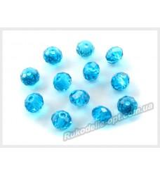 Хрустальные бусины рондель 6 мм цвет темно-голубой