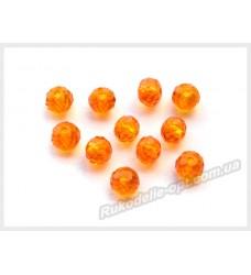 Хрустальные бусины рондель 6 мм цвет темно-оранжевый