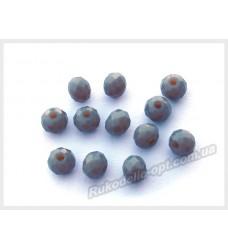Хрустальные бусины рондель 6 мм цвет темно-серый матовый