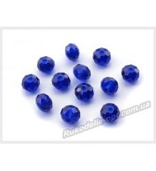 Хрустальные бусины рондель 6 мм цвет темно-синий