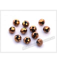 Хрустальные бусины рондель 6 мм цвет темное золото матовый