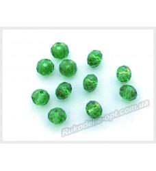 Хрустальные бусины рондель 6 мм цвет зеленый
