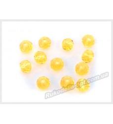 Хрустальные бусины рондель 6 мм цвет желтый