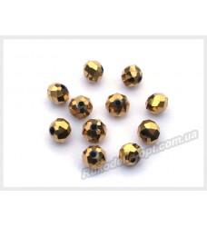Хрустальные бусины рондель 6 мм цвет золото матовый