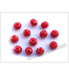 Хрустальные бусины рондель 6 мм цвет темно-красный матовый