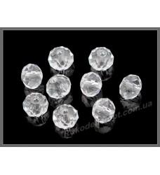Хрустальные бусины рондель 8 мм цвет crystal