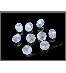 Хрустальные бусины рондель 8 мм цвет crystal AB +