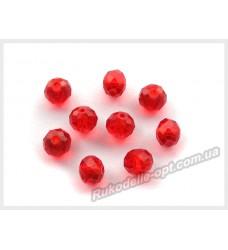 Хрустальные бусины рондель 8 мм цвет красные