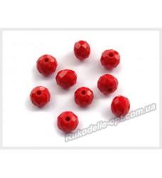 Хрустальные бусины рондель 8 мм цвет светло-красный матовый