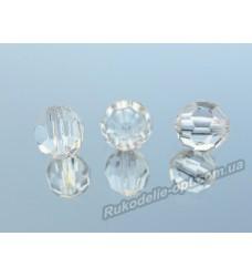 Бусины Хрусталик акриловые круглые 10 мм прозрачные