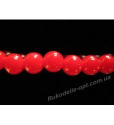 Бусины жемчуг акриловые 10 мм красные
