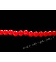 Бусины жемчуг акриловые 3 мм красные