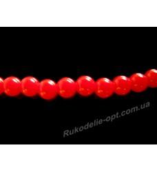 Бусины жемчуг акриловые 5 мм красные