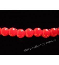 Бусины жемчуг акриловые 6 мм красные