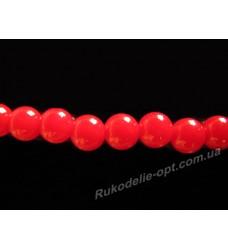 Искусственные бусины под жемчуг 8 мм красные