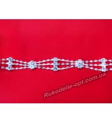 Декоративные цепи со стразами и камнями  А 010 (5 ярдов)
