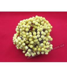 Ягоды калины искусственные сахарные цвет желтый