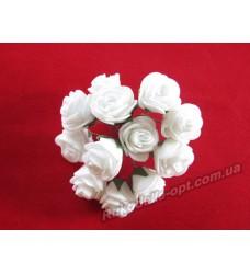 Цветок Роза средняя цвет белый