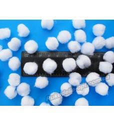Помпоны мягкие белого цвета 18 мм.