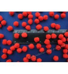 Помпоны 10 мм цвет красный