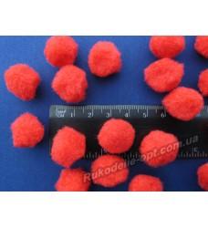Помпоны мягкие красного цвета 18 мм.