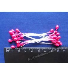 Тычинки двухсторонние большие на нитке цвет баклажанный