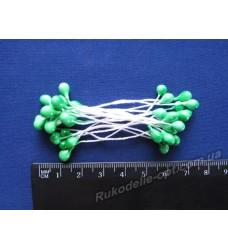 Тычинки двухсторонние большие на нитке цвет ярко зеленый
