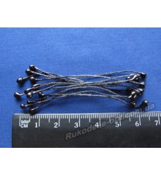 Тычинки двухсторонние маленькие на нитке цвет черный