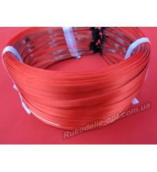 Ободок для волос метал с красным атласом 5 мм.