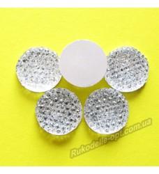 Камни кабошоны All Star круг 16 мм цвет crystal 500 шт.