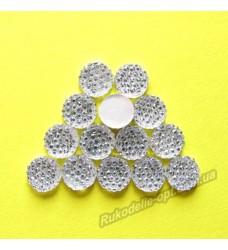Камни кабошоны All Star круг 8 мм цвет crystal 1500 шт.