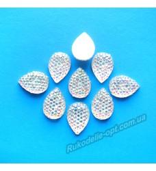 Камни кабошоны All Star капля 8*13 мм цвет crystal AB 1000 шт.