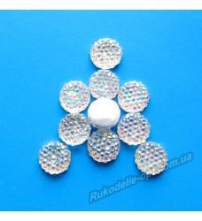 Камни кабошоны All Star круг 10 мм цвет crystal AB 1000 шт.